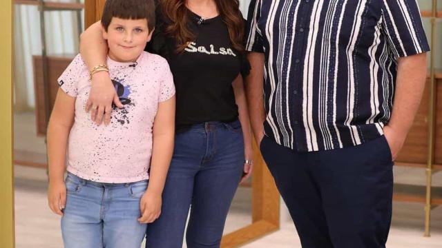 """Rúben Correia leva a mãe e o irmão ao programa da """"madrinha"""" Cristina"""