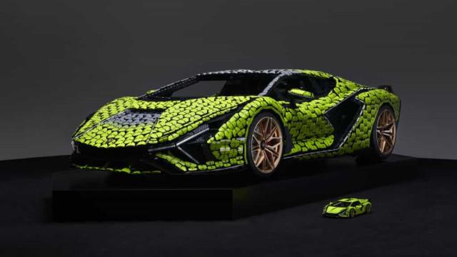 Este Lamborghini Sián (de tamanho real) é feito apenas com peças LEGO