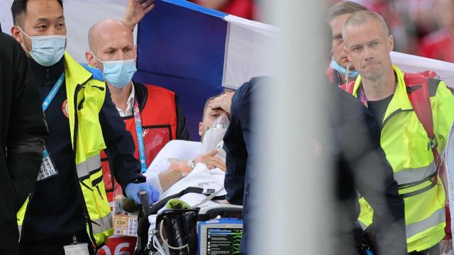 Eriksen está estável, consciente e vai fazer exames após susto no Europeu