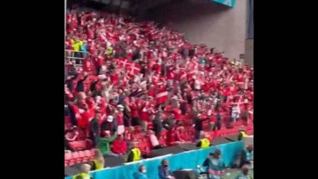 Rivalidade esquecida: Finlandeses e dinamarqueses gritaram por Eriksen