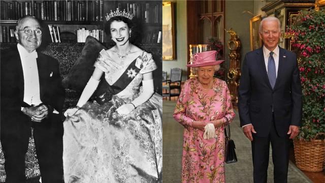 Biden visitou Isabel II, que já reuniu com 13 presidentes americanos
