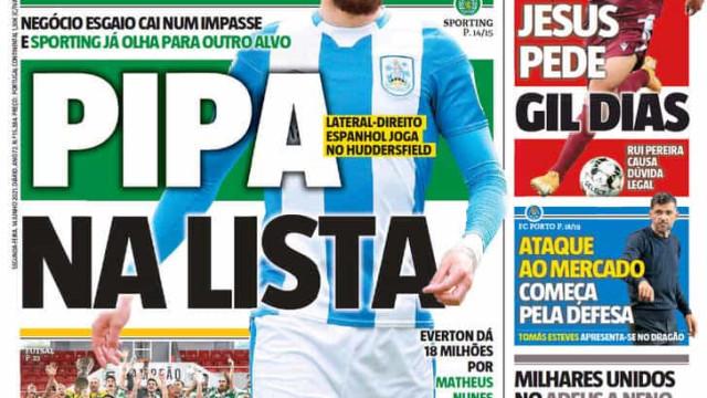 """Por cá: Sporting """"imperial"""", Pipa desejado e entrevista a Magnus Anderson"""