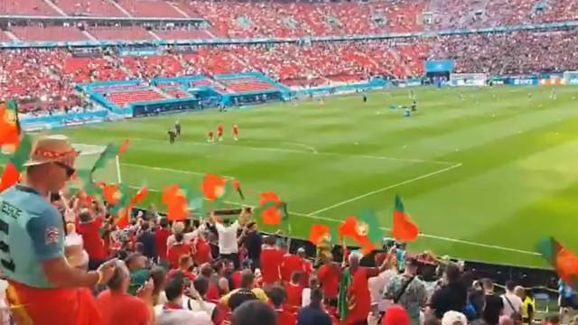Arrepiante: Já se ouve a voz de 'todos' os portugueses na Puskás Arena