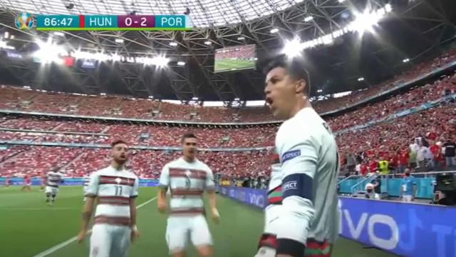 O penálti sobre Rafa e o primeiro golo de Ronaldo frente à Hungria