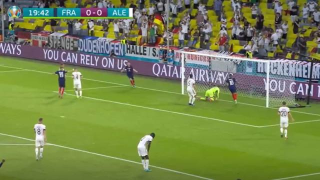 Hummels meteu água e França adiantou-se no marcador