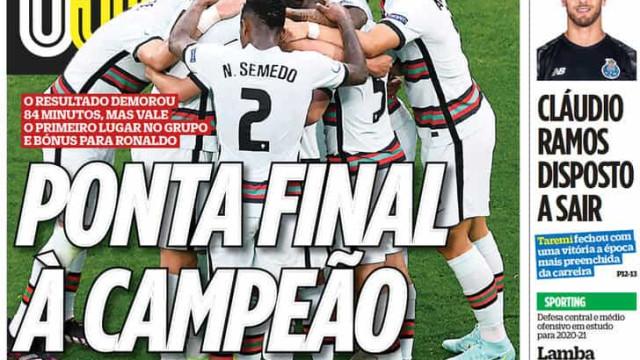 """Por cá: A """"fera"""" marcou... e Portugal entrou a vencer"""