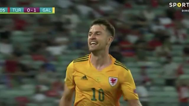 Passe assombroso de Gareth Bale para o golo de Ramsey