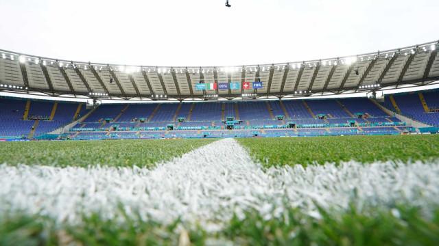 Alerta de bomba nas imediações do Olímpico de Roma antes do Itália-Suíça
