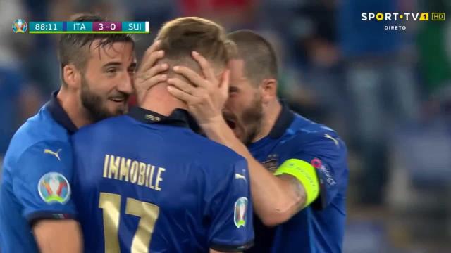 O resumo de mais um espetáculo da seleção de Itália no Euro'2020