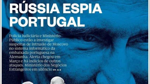 Hoje é notícia: Rússia espia Portugal; Concursos estatais 'viciados'