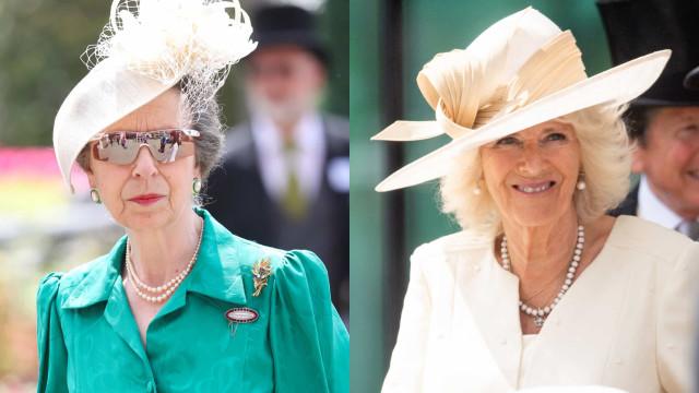 Look da semana: A princesa Ana e a Camilla Parker Bawles no Royal Ascot