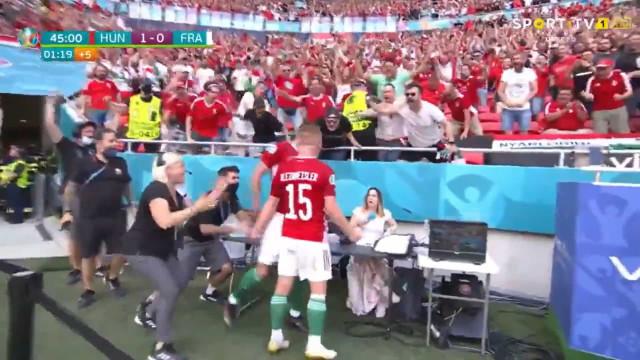 Fiola marcou no Hungria-França e o Puskas Arena 'quase foi abaixo'