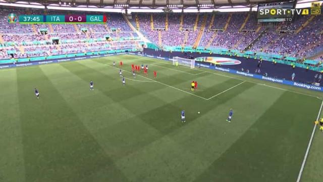 Mancini mexe, mas Itália não abranda e marca por Pessina