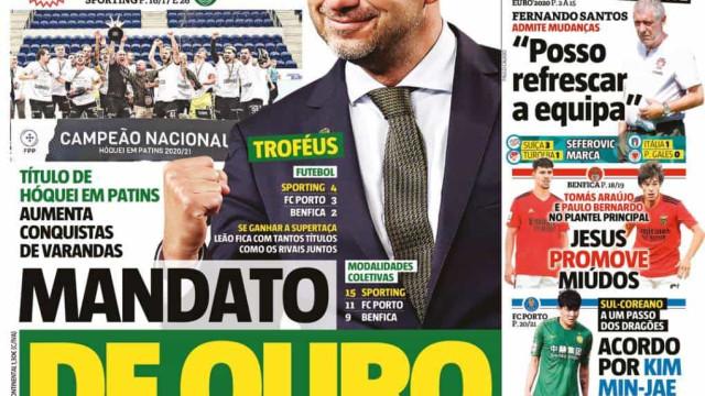 Por cá: Guendouzi no radar do Benfica e o mandato de ouro de Varandas