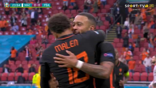 Depay abre o apetite aos adeptos do Barça com mais um golo no Euro'2020