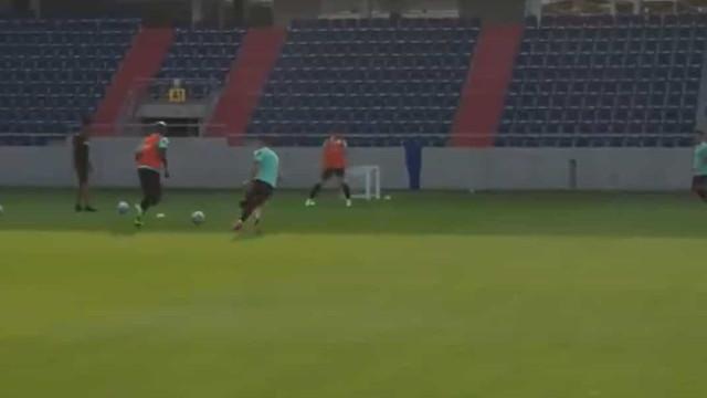 Portugal mostra os bastidores do treino para a 'final' com a França