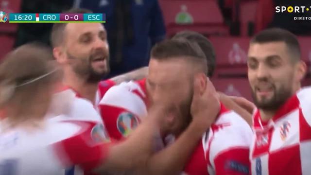 Croácia marcou contra a corrente do jogo e Vlasic 'calou' Hampden Park