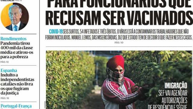 Hoje é notícia: Lares exigem regras; Um terço na UCI vacinado com 1 dose