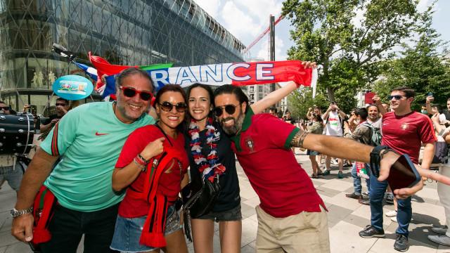 Adeptos portugueses já fazem a festa antes do exame francês
