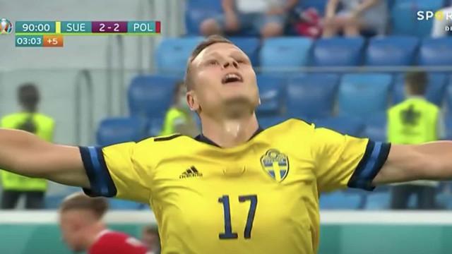 O golo de Claesson que atirou a Polónia para fora do Euro'2020