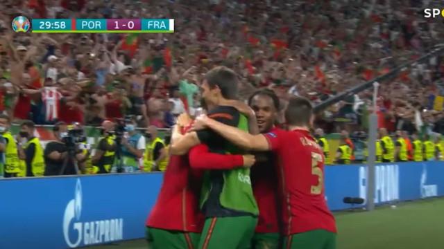 Ronaldo abre o marcador em Budapeste através de penálti