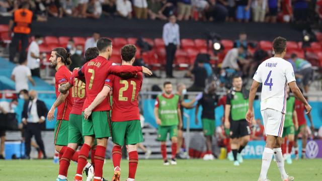 As imagens que não viu na TV do duelo de campeões entre Portugal e França