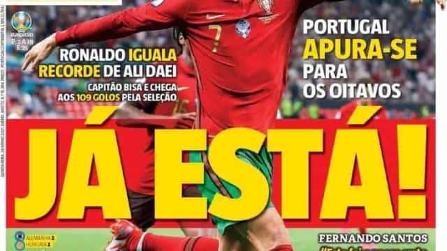 """Por cá: Portugal arruma a """"calculadora"""" e """"o sonho continua"""""""