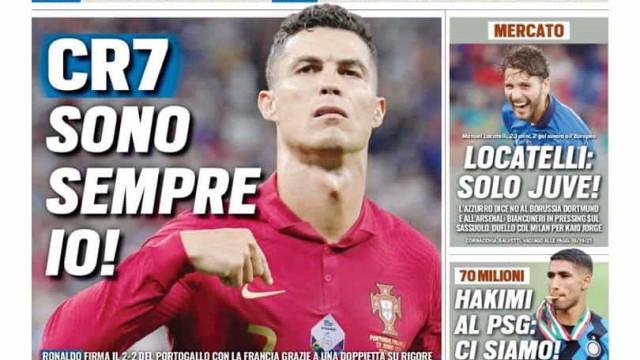 """Lá fora: Cristiano Ronaldo é herói e... """"Oh não! Os alemães não"""""""