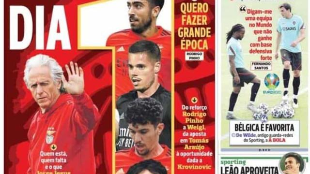 Por cá: Benfica regressa ao trabalho e Evanilson quer o título
