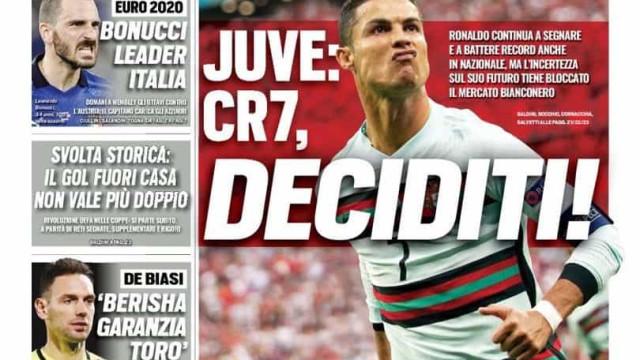 Lá fora: Cristiano Ronaldo e Mourinho 'roubam' as atenções