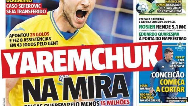 Por cá: Sporting e Benfica vão às compras e FC Porto forja nova dupla