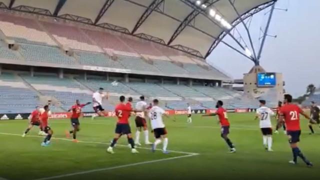 O golo de Gonçalo Ramos ao Lille