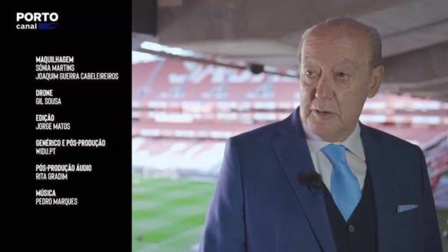 As imagens de Pinto da Costa no estádio da Luz que estão a dar que falar