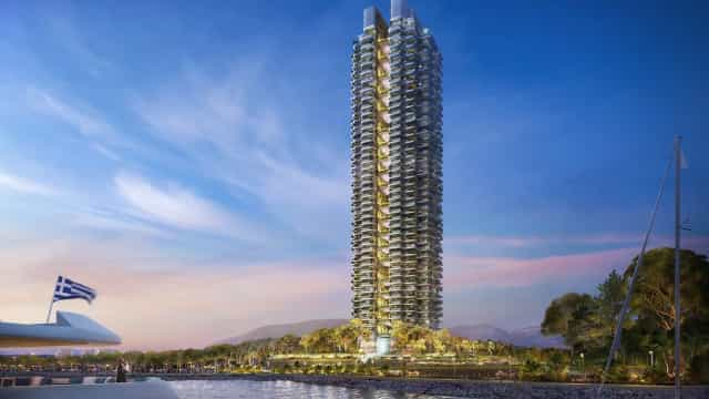 Eis as primeiras fotos do edifício residencial mais alto da Grécia