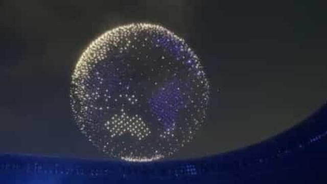 O incrível espetáculo de drones que abriu os Jogos Olímpicos