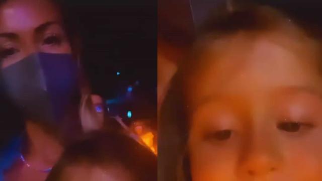 Vídeo. Laura Figueiredo filma-se com a filha no concerto de Tony Carreira