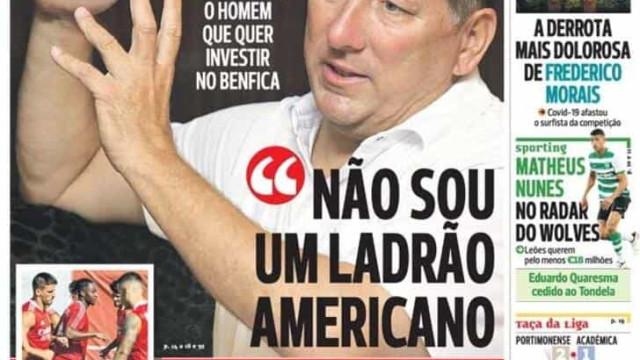 """Por cá: Interessado no Benfica não é """"ladrão"""" e Luis Díaz quer brilhar"""