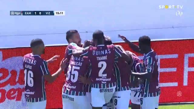 Xavier Fernandes marcou e deixou o Estrela a ganhar frente ao Vizela