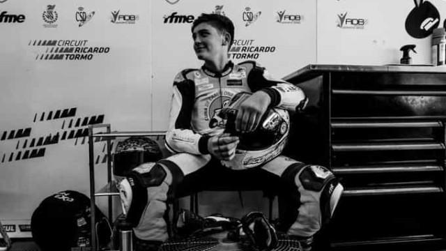 Motociclismo espanhol de luto. Hugo Millán morreu aos 14 anos