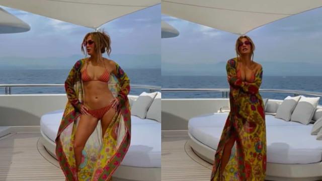 O look de aniversário de Jennifer Lopez que custa quase 3 mil dólares