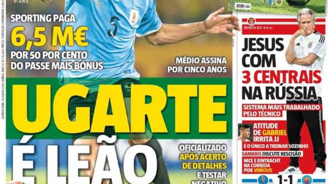 Por cá: Ugarte é leão e Everton livre para Moscovo