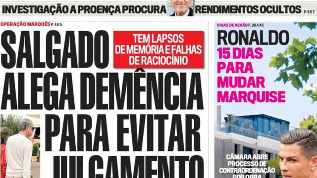 Hoje é notícia: Início da 'libertação total'?; Salgado alega demência