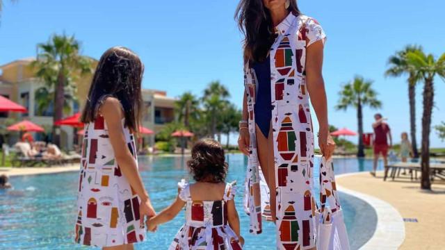 """Cláudia Vieira veste-se a combinar com as filhas. """"Adoro"""""""