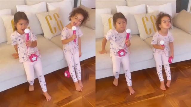 Vídeo. Georgina Rodríguez mostra as pequenas da casa a cantar
