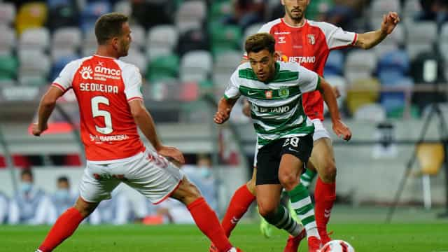 As imagens que não viu na TV do duelo entre Sporting e Sp. Braga