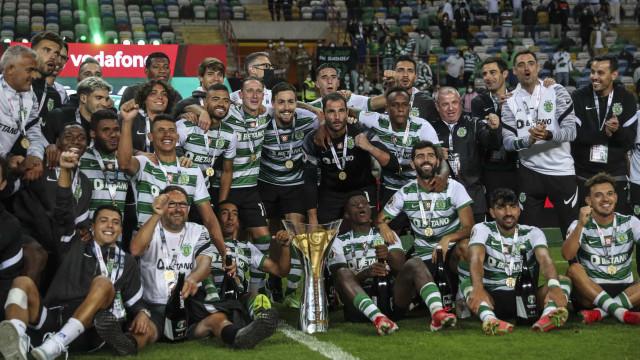 As melhores imagens dos festejos do Sporting após vencer a Supertaça