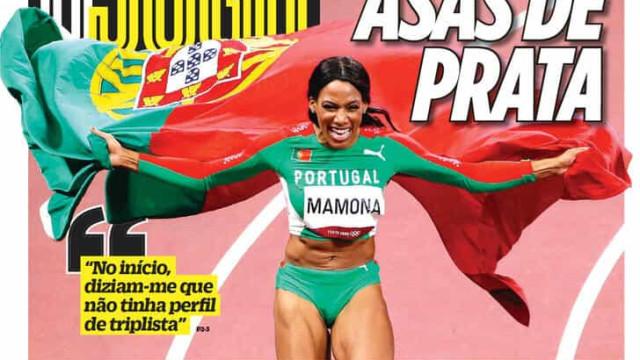 "Por cá: Patrícia Mamona é ""gigante"" e ""voa"" para as manchetes"