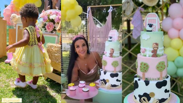 Joana Diniz vive dia feliz ao celebrar o segundo aniversário da filha