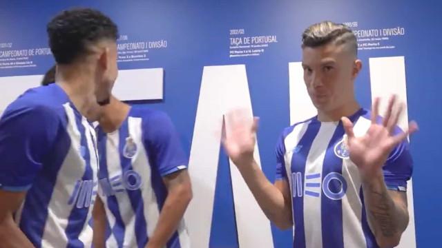 As imagens dos bastidores da apresentação do FC Porto