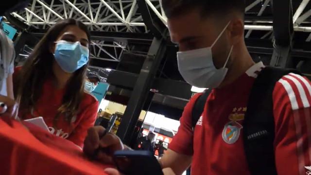 Benfica mostra os bastidores da viagem até Moscovo